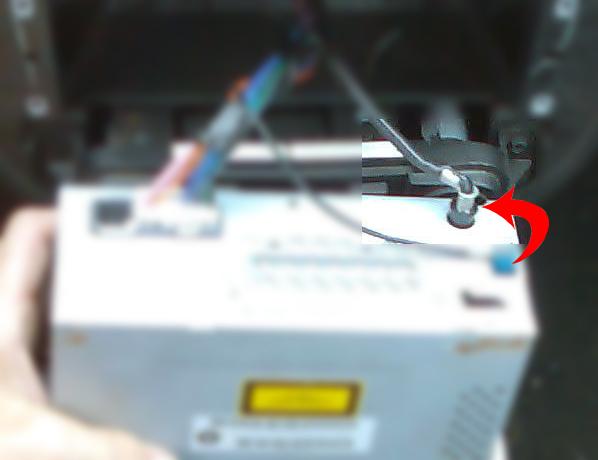 R paration de la rallonge coud du c ble d 39 antenne de l for Antenne autoradio interieur
