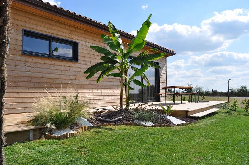 Re fabrication dune terrasse en bois sur piloties+ déco