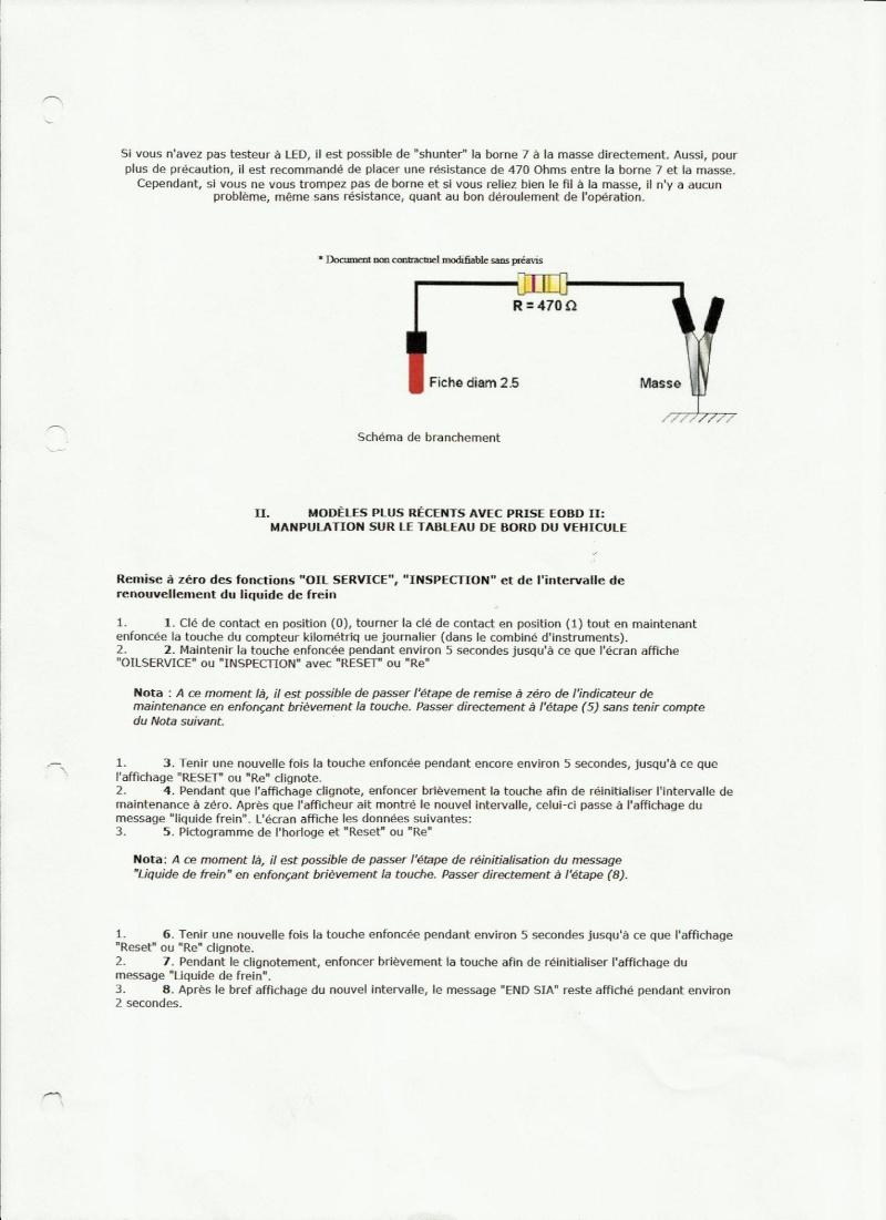 Remise a zero compteur vidange bmw e36