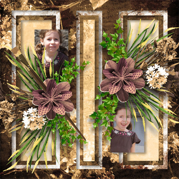 fleurs du mal kit simplette page sarayane