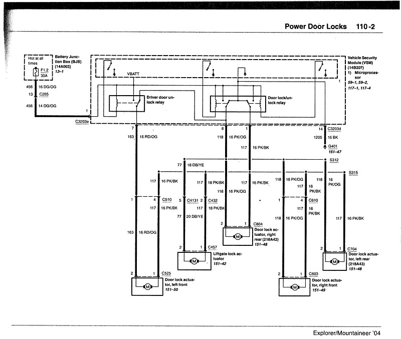 u0026 39 03 door lock switch  wiring question