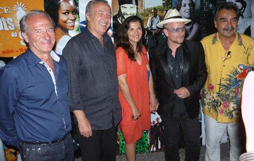 """Visite surprise de Bono (U2) aux """"Nuits du Sud"""" de Vence"""