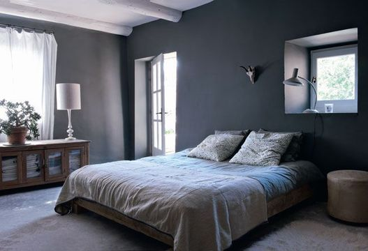 Chambre taupe et lin for Peinture chambre parentale