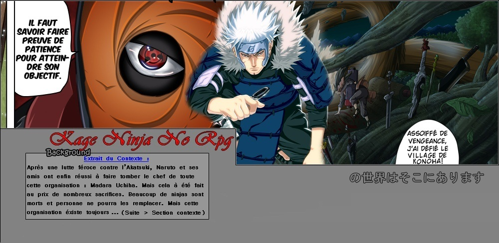 .oO¤Oo. Bienvenue Sur Kage Ninja No Rpg .oO¤Oo.