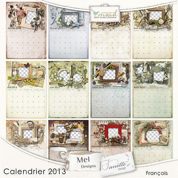 Didine design calendrier 2013 par mel designs - Calendrier design ...
