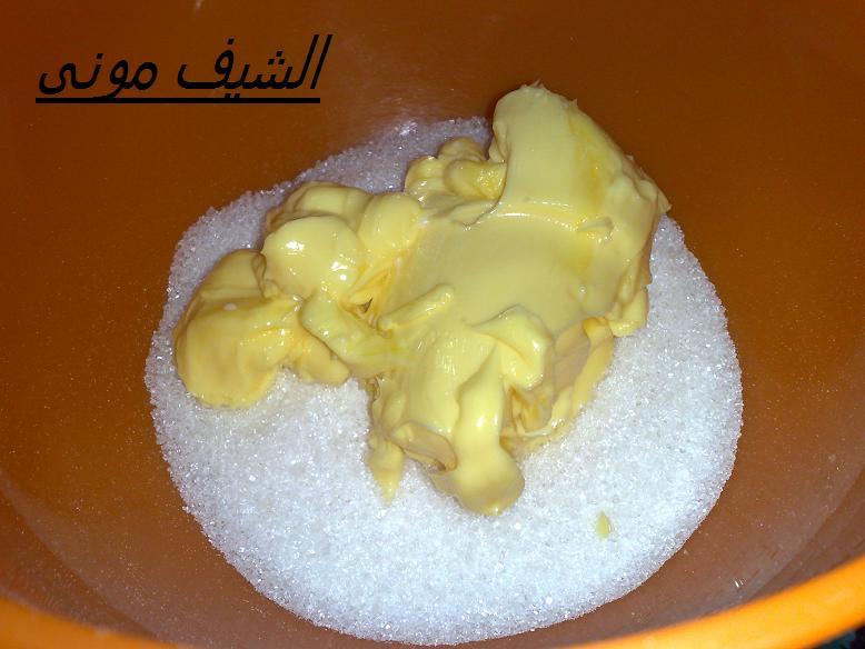 السلام عليكم ورحمة الله نبدء بمقادير الكيكة 5 بيض كوب