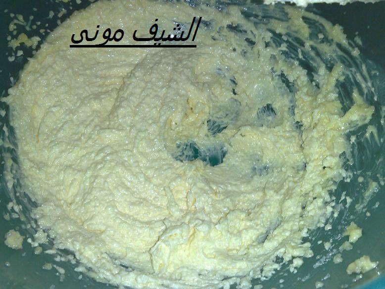 دقيق قطعة زبدة هتبقى 100 جرام(بحرارة الغرفة) بيضة ربع كوب