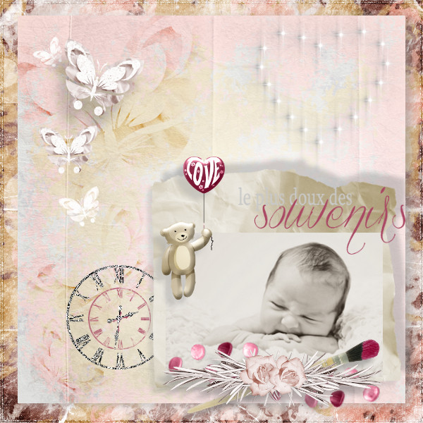 cherry love and roses kit simplette page karine koccy