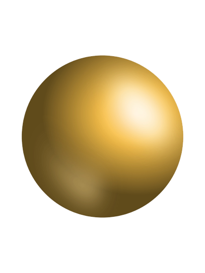 كرات ذهبية وملونة بدون خلفية للتصميم