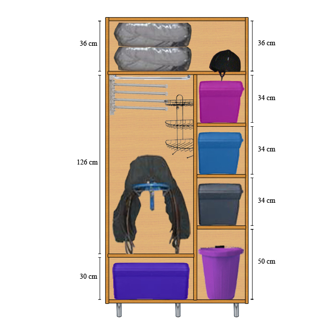 fabrication d 39 une armoire de sellerie page 2. Black Bedroom Furniture Sets. Home Design Ideas