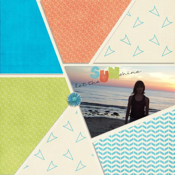 mosaiques template simplette page toupie Kit Sunny day de Leaugoscrap RAK Mayasa