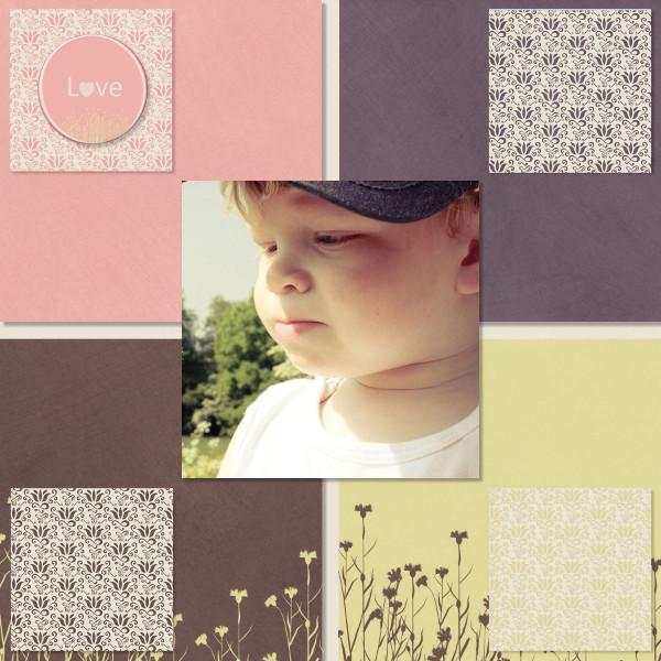 mosaiques template simplette page toupie Kit Embraces spring de Design by Hilde RAKSarah's fairy family
