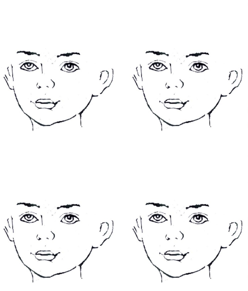 Face Outlines – Blank Face Templates