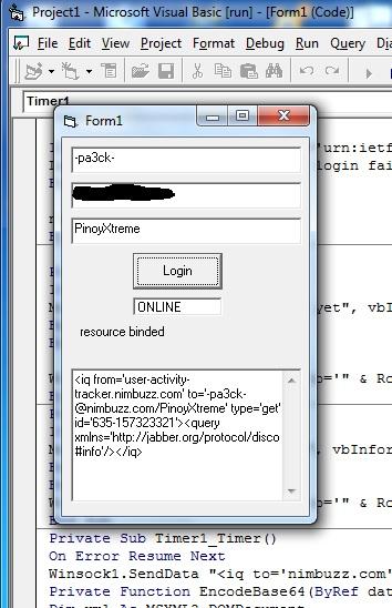 tut vb6 new nimbuzz login code pinoyxtreme
