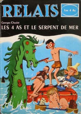 Cryptozoologie - forum - les 4 as et le serpent de mer - serpent-de-mer - cryptide marin - 1961 - bande dessinée - littérature - 1961