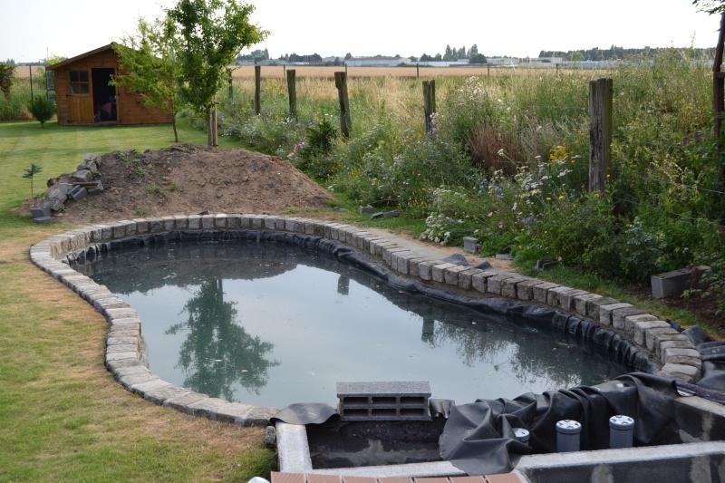 Bassin de jardin 15m3 bassin de jardin for Geotextile pour bassin