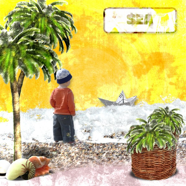 summertime kit simplette page scrapbxl