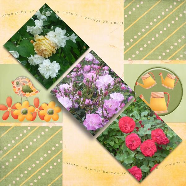 """mosaiques template simplette page scrapbxl MSAD """"my secret garden"""""""