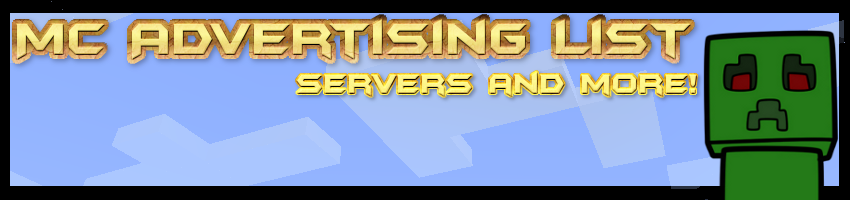McAdvertisingList | Advertise your Minecraft Servers Here!