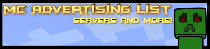 McAdvertisingList | Advertise your Minecraft Servers Here!
